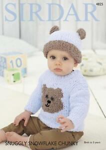 c6ad33b777cce8 Image is loading Sirdar-4825-Knitting-Pattern-Teddy-Bear-Sweater-amp-