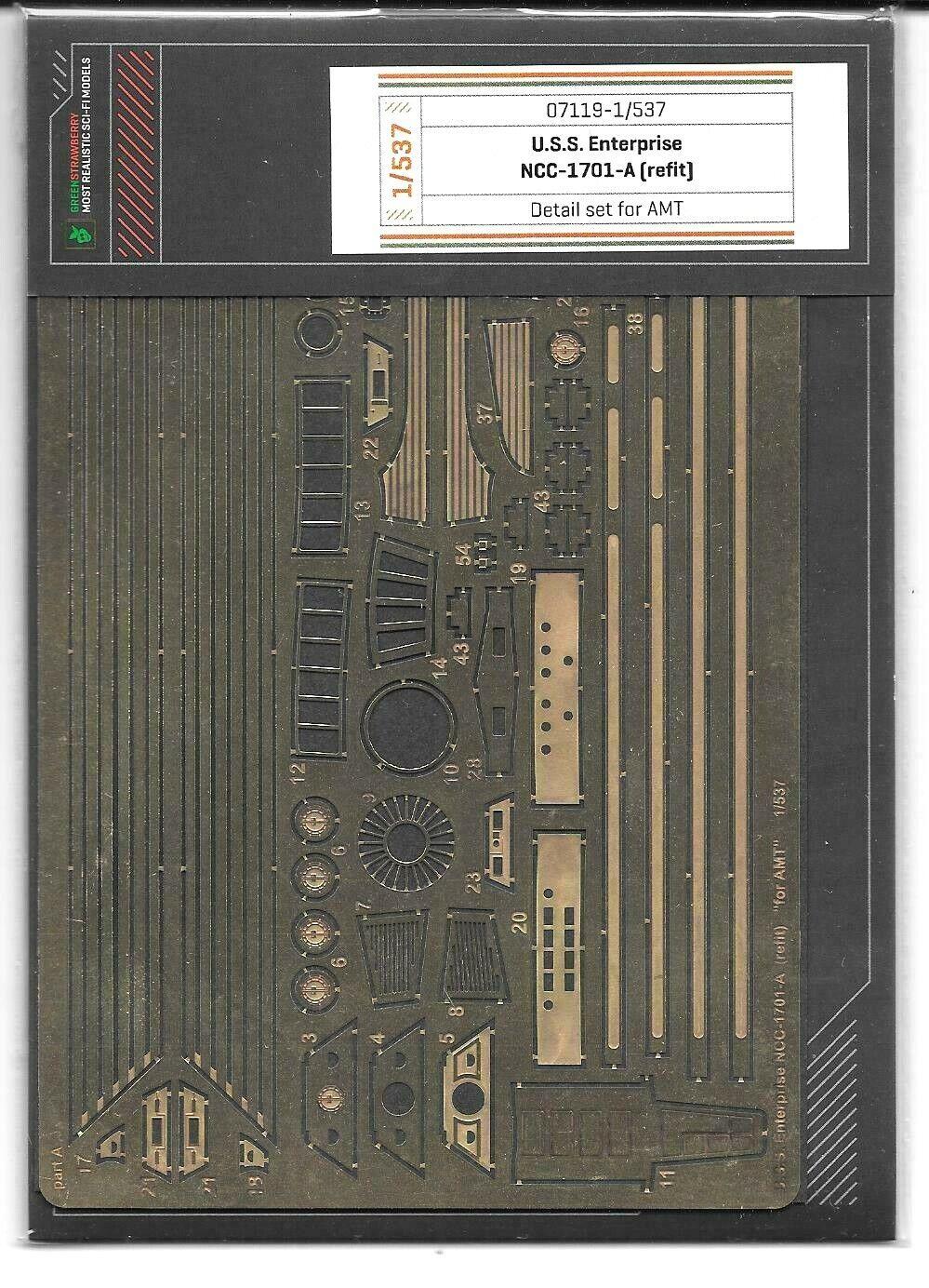 Grün Strawberry Uss Enterprise NCC-1701-A Refit P.E.Details 1 537 7119 St