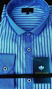 Kingsize Long Cotton blue Shirt Blue Valley 3xl4xl5xl6xl7xl8xl Sleeve Striped rwrEx4R
