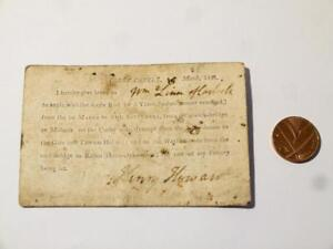 1811-Henry-Howard-Corby-Castle-Rod-Fishing-Licence-Permit-on-6-Spades-Card-CCA