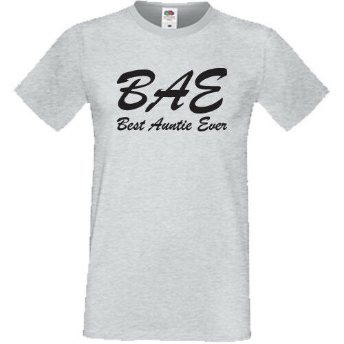 Best Auntie Ever T Shirt BAE Cool Funny Gift For Aunt Birthday Christmas Unisex