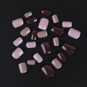 24-X-Full-Nail-Tip-Short-Smooth-False-Nails-Pure-Color-Nail-Art-Tool-Beauty-Set