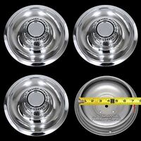 4 Chevy Gm Disc Brake Rally Wheel Center Hub Caps Rim 5 Lug Nut Cover Trim Rings
