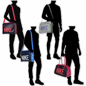 c4e7fbeb9951 Nike Heritage SI Track Club Messenger Holdall Shoulder Bag Pink Grey ...