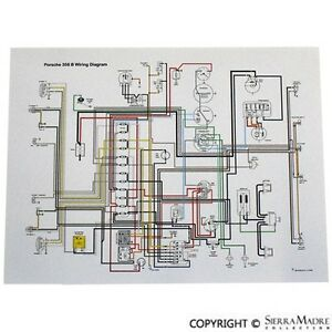 1967 porsche 912 wiring diagram full color wiring diagram  porsche 912  69  ebay  full color wiring diagram  porsche 912