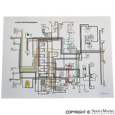Full Color Wiring Diagram Porsche 911 T 1969 Ebay