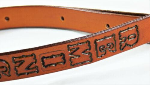 "REMINGTON 1/"" wide Handmade Cowhide Leather Rifle Shotgun Sling"