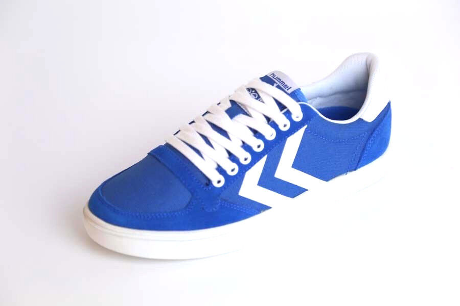 Hummel - Slimmer Stadil Waxed Canvas Low - Imperial bluee - 64-424-7393
