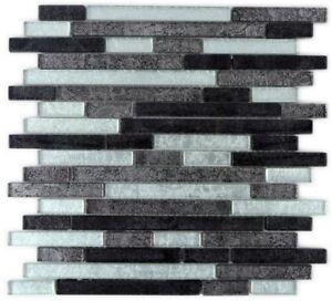 Mosaik-Fliese-Transluzent-Glasmosaik-schwarz-silber-86-1703-f-10-Matten