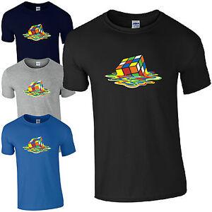 Fusion-rubik-039-s-cube-t-shirt-geek-big-bang-theory-unisexe-enfants-homme-cadeau-top