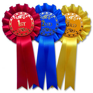 1st, 2nd, 3rd, Rosettes, Dog Show Rosettes, Horse Show Rosettes F1