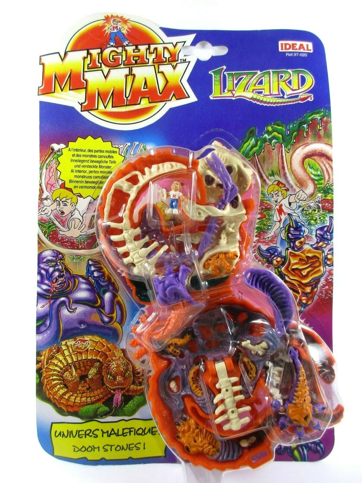 MIGHTY MAX Univers Mal 655533;655333; fiques (Doom Zones) LIZARD --Neuf Autote France