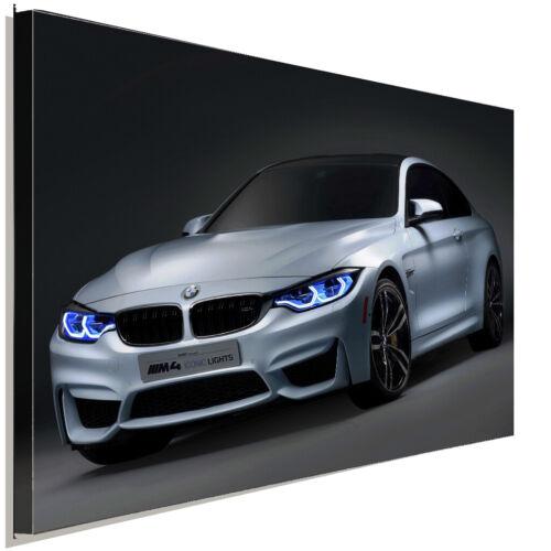 BMW M4 Iconic Leinwandbild AK ART Kunstdruck Mehrfarbig Wandbild Wanddeko XXL