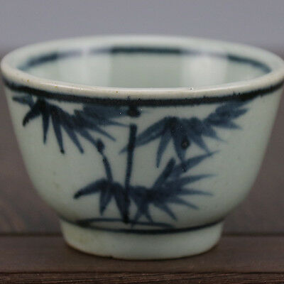 Wine Cup Chinese Old Blue and White FLOWERS Pattern Porcelain Kung Fu Tea