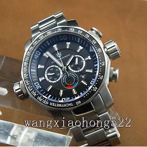pagani design 46mm stainless steel strap chronograph quartz watch