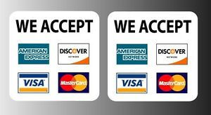 we accept visa mastercard sign 8x11 paper