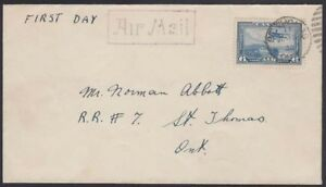 Canada-1938-First-Day-Air-C6-St-Thomas-Ont