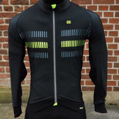 Alé ale Strada PRR 2.0 manga larga Camiseta warmer Fleece negro Neon espalda bolsillos