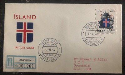 Europa 1964 Reykjavik Island Ersttagsbrief Fdc Zu Freehold Nj Usa Hochwertige Materialien Island