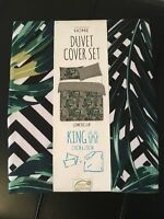 Primark Home Geometric Leaf King Size Duvet Cover Set