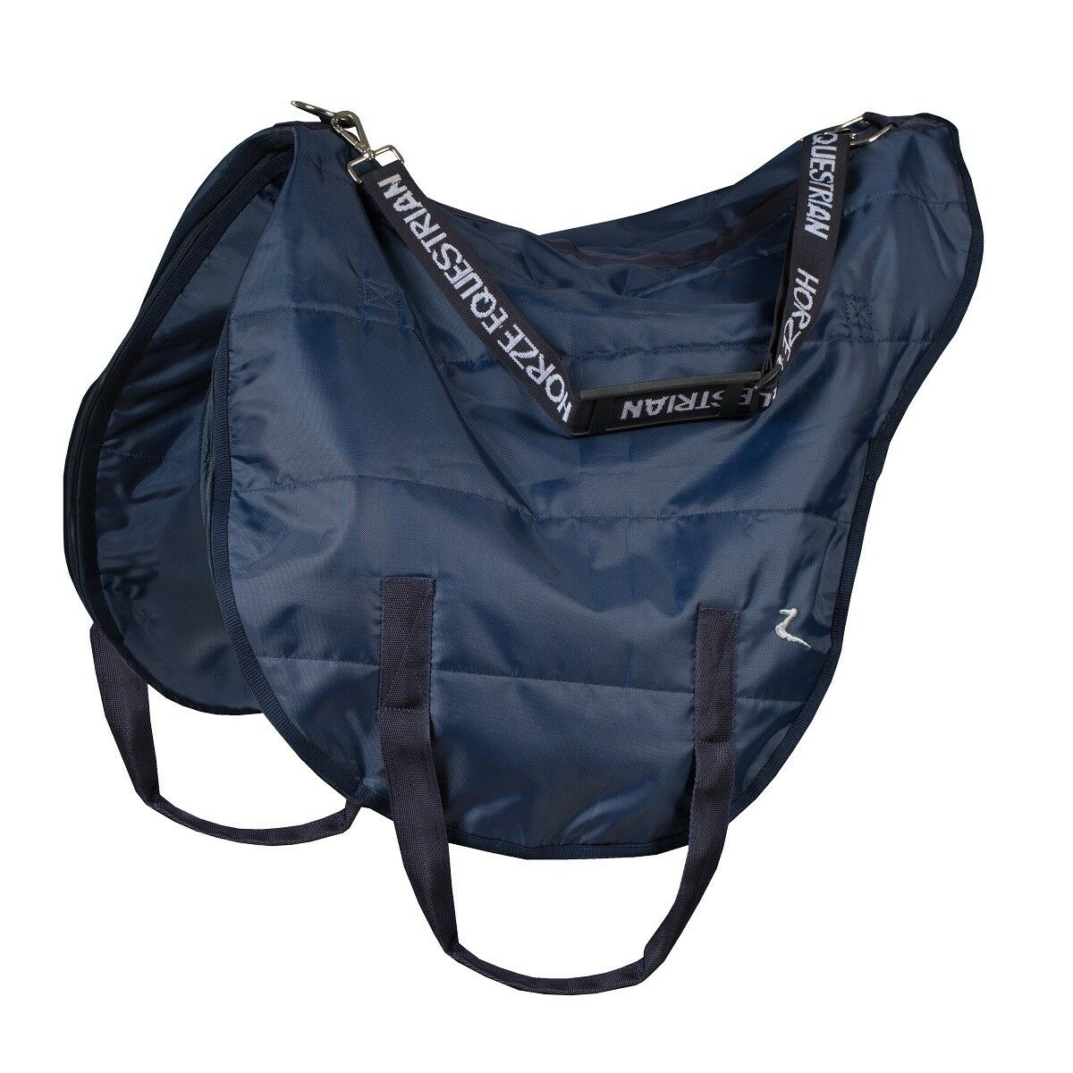 Horze Equestrian English Navy Carry Strap Nylon All Purpose English Equestrian Dressage Saddle Bag 23d2c2