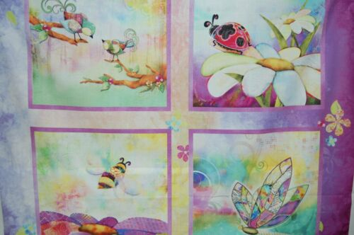 Connie Haley//3 Wishes /'In the Meadow/' Fabric Quilting Cot//Pill Panel 100/% Cotton