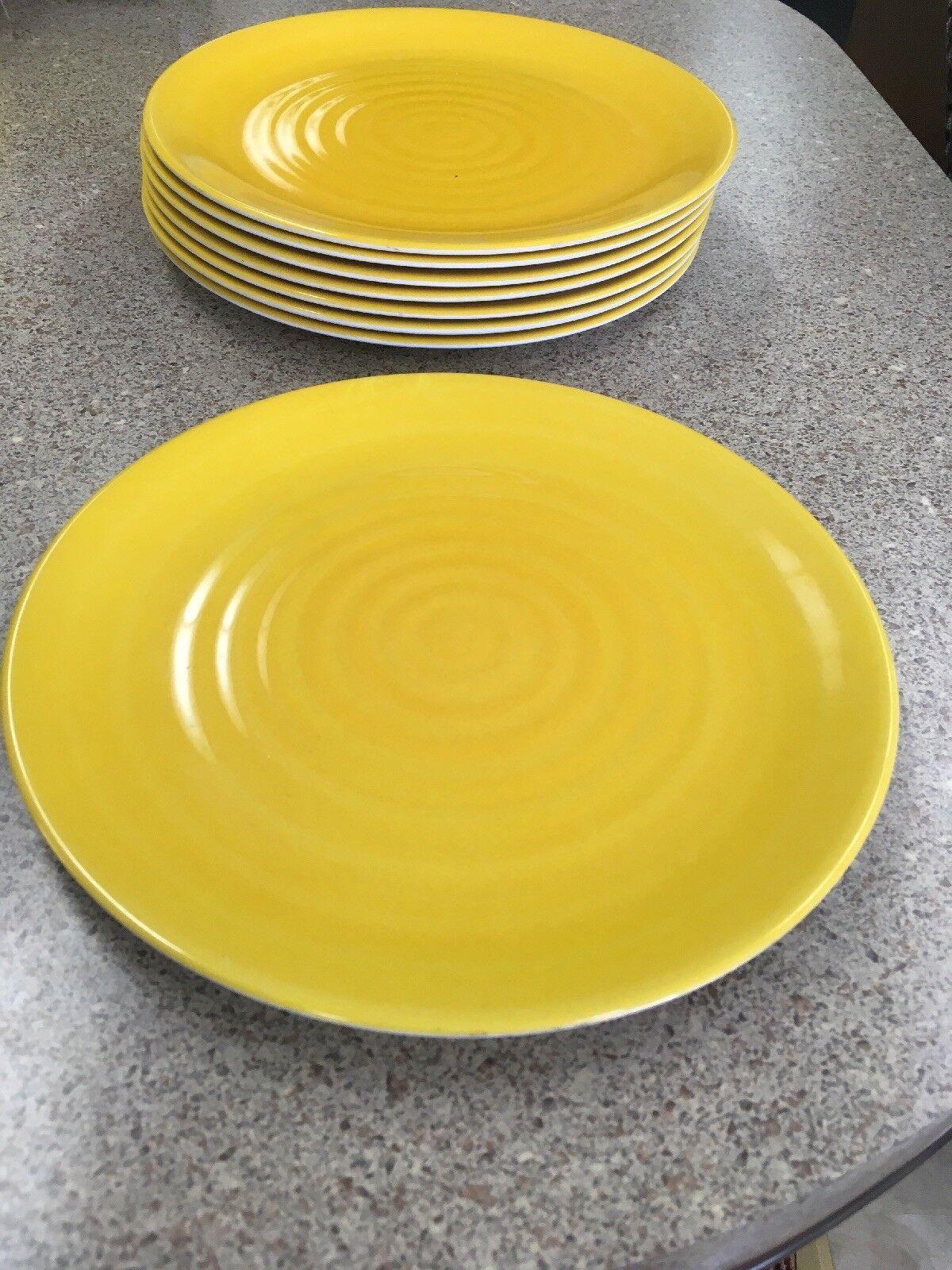 Qté 8 jaune vif 10 1 2  Precidio assiettes mélamine