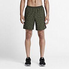 Mens Size Medium M Nike Green Black Dri Fit Lined Running Athletic Shorts 683410