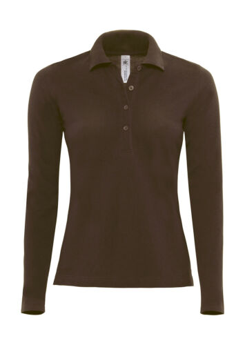 B/&C Ladies Damen Polo Langarm Longsleeve Safran Pure