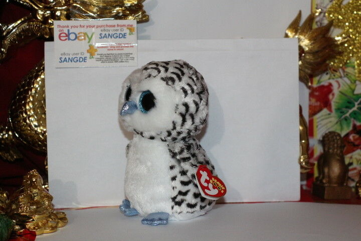 TY BEANIE BOOS LUCY THE OWL.6 .JUSTICE EXCLUSIVE.2015.MWNMT.NICE GIFT