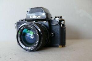 Nikon F2 +Sucher mit Belichtungsmesser DP-1 +24mm 2.8 Objektiv