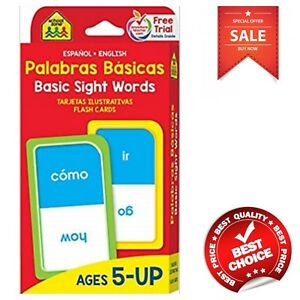 Details about Basic Sight Words Flash Cards Bilingual Spanish English  Edition Flashcards