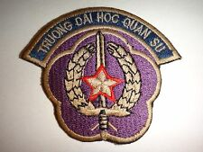 "ARVN MILITARY COLLEGE ""TRUONG DAI HOC QUAN SU"" Vietnam War Patch"