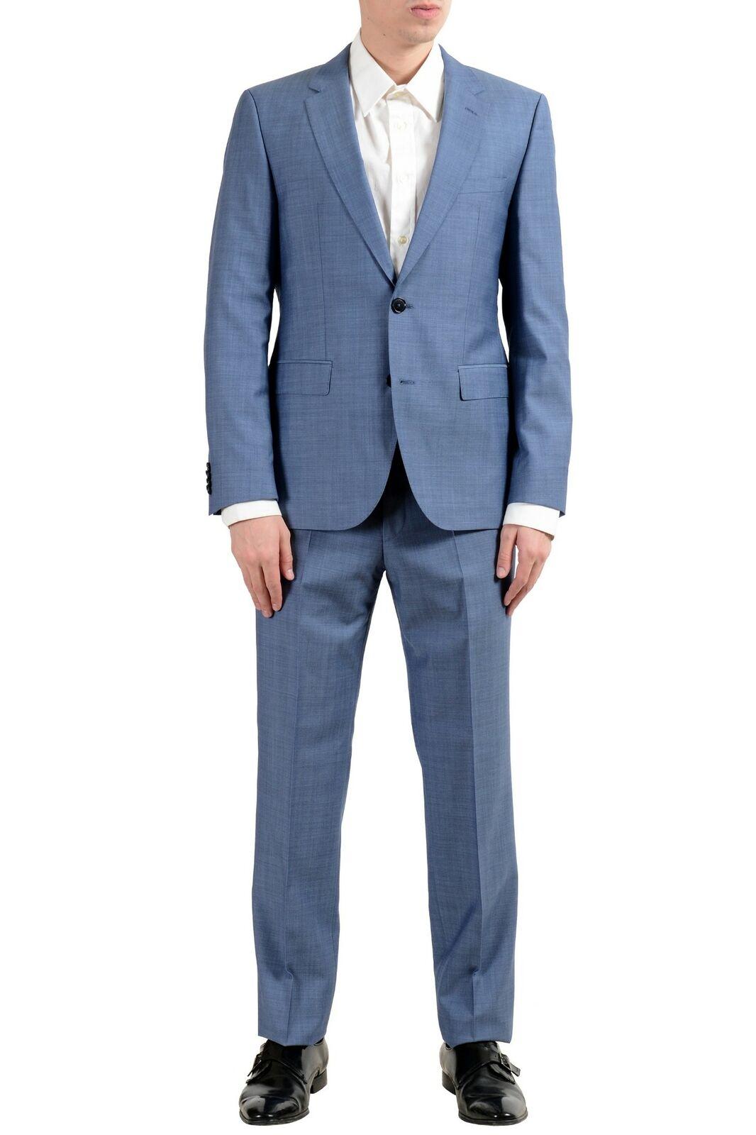 37a2c976701ac1 Hugo Hugo Hugo Boss C-Jeffery C-Simmons Men's 100% Wool Two Button Suit US  38R IT 48R 077d07
