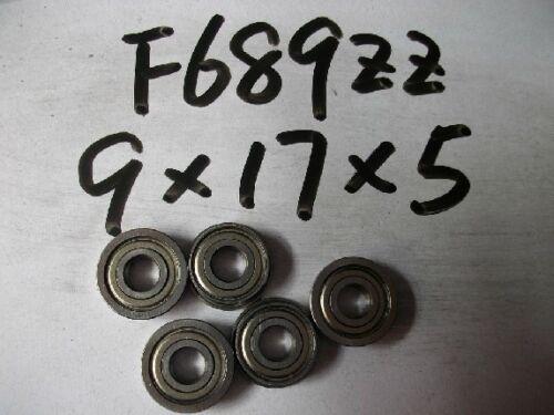 10pcs Miniature Flange Bearing 9x17x5mm 9x17x5 F689ZZ