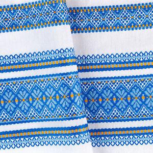 Decorative-Tablecloth-Ukrainian-ornament-KUPALA-SALE-White-Blue-Yellow