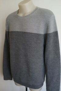 country-road-textured-knit-grey-midweight-wool-jumper-size-large-vgc