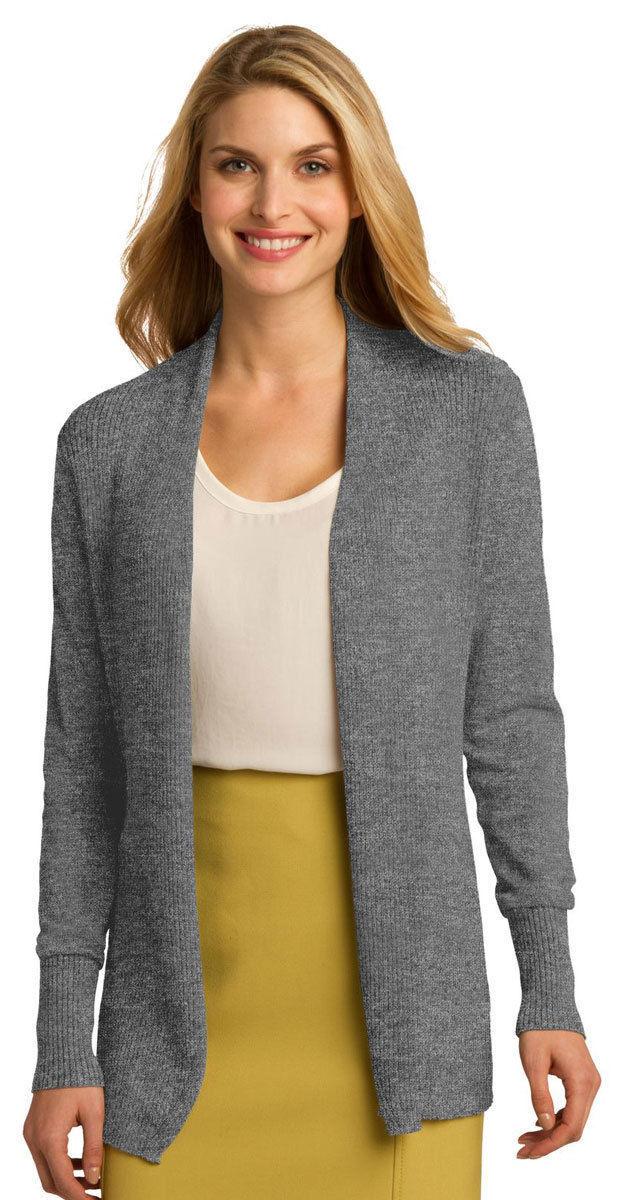 Port Authority Women's Long Sleeve Open Front Winter Cardigan XS-4XL. LSW289