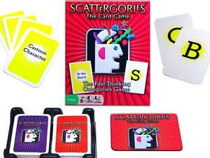 Scattergories Card Game Portable Features Elements Of The Board Game