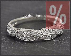 Diamant-Brillant-Damen-Ring-585-Weissgold-0-52ct-Brillantring-Eternity-Damenring