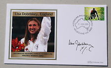 COMMONWEALTH GAMES MELBOURNE 2006 BEHAM COVER ATHLETICS SIGNED BY LISA DOBRISKEY