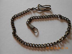 Verkaufe-schoene-Taschenuhrkette-Gesamtlaenge-ca-37-cm-Bronzelegierung