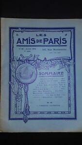 Revista Dibujada Las Amis De París N º 41 Mensual 1916 Gerente Claude Simond ABE