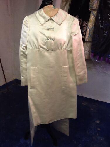 Mint Vintage Teal Traina White Satin Pantsuit S