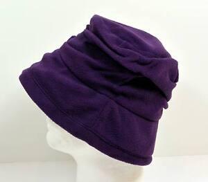 New-Women-Winter-Crusher-Fleece-Bucket-Hat-Purple-2