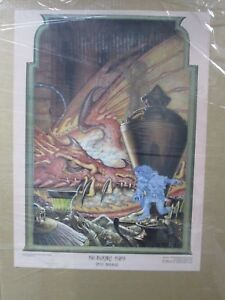 Vintage-poster-The-Invisible-thief-at-Sunrise-wizard-Rings-elves-1976-Inv-G826