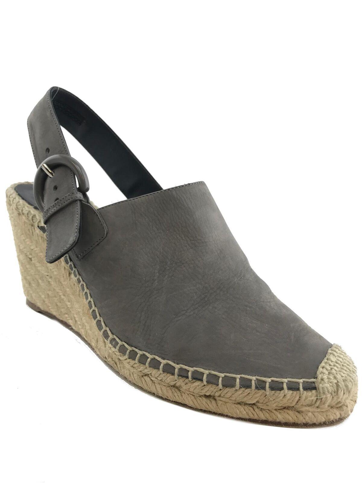 Celine Leather Slingback Espadrilles Size 9