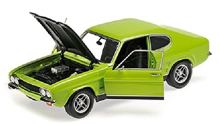 Ford Capri Rs 2600 1970 Verde Nero Verde Nero 1:18 Minichamps