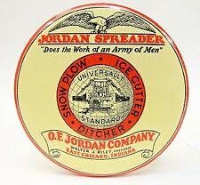 circa 1914 JORDAN SPREADER Railroad Train Snow Plow paperweight pocket mirror *