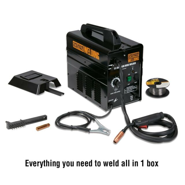 Chicago Electric AC Wire Feed Flux Core Arc Welder 90 Amp 120v | eBay